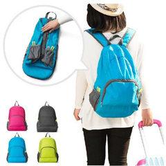 韩版户外旅行双肩背包 可折叠旅行收纳包 登山运动折叠背包批发 绿色