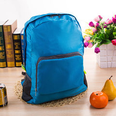 厂家直销 户外旅行折叠包防水大容量背包定制logo会销礼品双肩包 绿色
