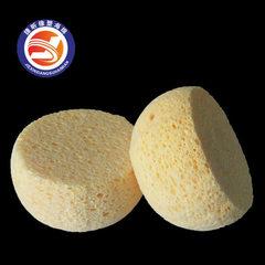生产厂家定做 异形海绵木浆棉 清洁去污圆形压缩木浆棉 造型定做