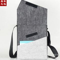 Manufacturer wholesale leisure felt shoulder bag r Light grey