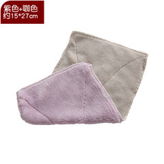 Dishwashing cloth absorbing water and thickening d Purple + coffee 15 * 27 cm