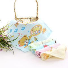 Cotton gauze printing square towel universal gift  The background pattern is random 27 * 27