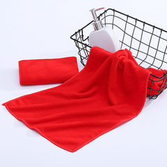 Super fine fiber towel 180g square 30*70 washing c red 30 * 70