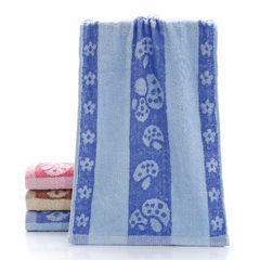 Mushroom towel gaoyang factory wholesale weak twis blue 34 * 70 cm