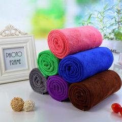 Frosted ultra-fine fiber a plain pure color towel  purple 35 * 75