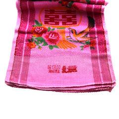 厂家直销  结婚回礼 红色印花   鸳鸯婚庆双喜巾  260双喜毛巾 红色 31CMX70CM