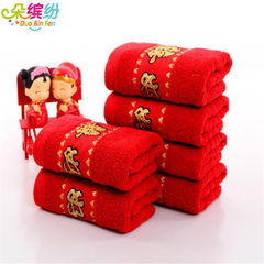 Factory direct selling weak twist jacquard hundred red 32 * 73
