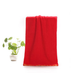 Manufacturer direct selling xiangyun towel pure co red 33 cm * 73 cm