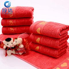 Supply pure cotton wedding big red towel wedding w The century [xi] is very happy 74 * 33