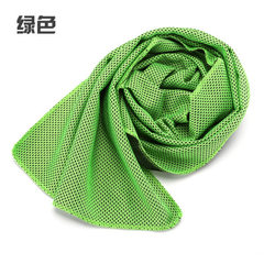 Korean hot style cold felt towel outdoor sports to green 30 * 90 opp bags