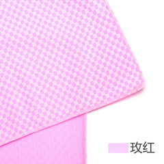 Hot style square grid bamboo charcoal ice towel sp pink 30 * 90 opp bags