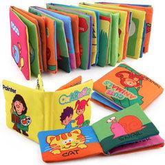 Foreign trade early education cloth book tear earl animal