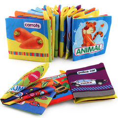 Foreign trade baby cloth book baby science educati 2956 digital cognition 25 grams