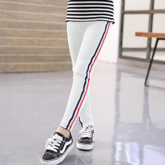 Spring 2018 children`s wear leggings for girls and white 100 cm