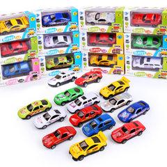 新款儿童模型玩具车仿真迷你卡通合金车模地摊热卖玩具礼品批发 款式混发