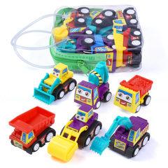 Children`s cartoon mini inertia car set toy car mo Six in a bag, please take multiples of six