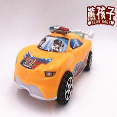 热卖拉线警车 玩具儿童创意小孩警车玩具车模型夜市地摊货源批发 白色
