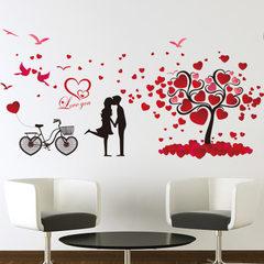 厂家直销新款创意墙贴浪漫情侣爱情树卧室墙贴纸可移除贴画批发 8151爱情树1