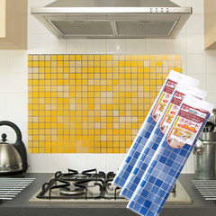 1384 imitation Mosaic kitchen anti-oil sticker alu white
