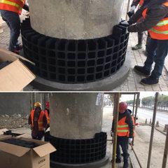 Plastic flowerpot balcony planting flowerpot garde black