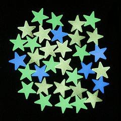 3cm star night light patch 100pcs children`s bedro Green stars