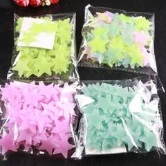 F18 3cm star luminous disc 100pcs fluorescence PP  3cm green 100pcs/ bag