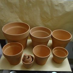 Processing and wholesale red pottery flowerpot mea 5 * 4 cn