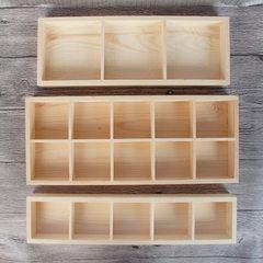 微景观多肉植物木质容器多肉花木盒花器收纳木盒木质工艺收纳木盒 实木色 可定制