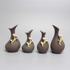 Ceramic multi-meat plant flowerpot with simple per 7.2 * 6.5 * 6.5