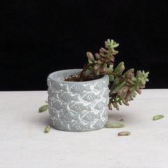 Creative cement flowerpots multi-meat flowerpots o Light grey 8 * 8 * 7 cm