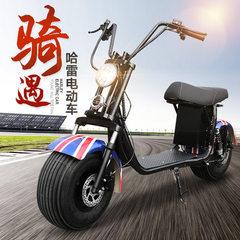 爆款哈雷电动车 成人双轮60v代步电动双座礼品车子 一件代发