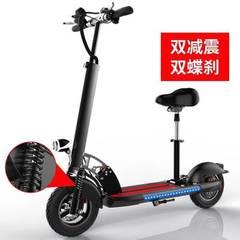 10寸48v电动滑板车便携折叠成人减震自行车代驾两轮锂电池代步车