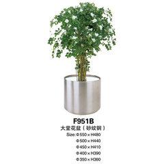 Stainless steel flowerpot outdoor circular flowerp Stainless steel sand steel
