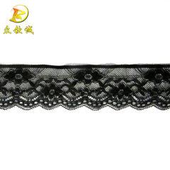 4.9cm elastic lace quality collar lace lace Japane black 4.9 cm * infinite