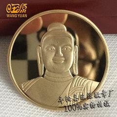 景区热卖金属纪念币 锌铝合金镀金纪念章 旅游纪念品工艺品定制 金色