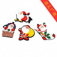 软磁性冰箱贴 卡通圣诞创意PVC冰箱贴 滴胶浮雕冰箱贴定做 多种 5cm*5.5cm