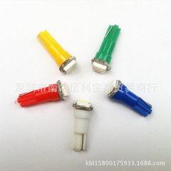 工厂直销 T5 1灯 汽车LED仪表灯  LED指示灯  T5 5050 1SMD 大批生产 5050 白光