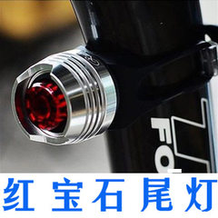 LED aluminum alloy taillight high brightness ruby  Red black shell