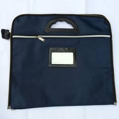 牛津布双层防水手提公文包 手拎文件包厂家直销可印刷定做LOGO 宝蓝色