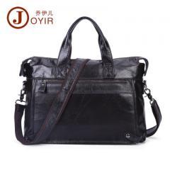 New leather men`s bag leisure single shoulder mess 6309 black