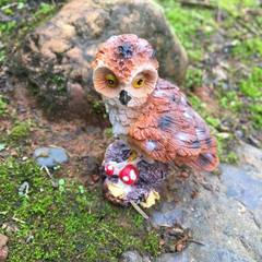 Micro landscape decoration owl creative gifts ZAKK coffee 5 cm high