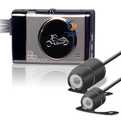 厂家直销高清1080P摩托车机车记录仪分体式双镜头锌合金3.0寸夜视