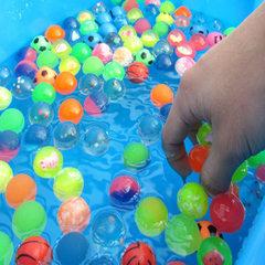 Floating toy floating ball rainbow playground floa Mixed color, orange 2.5 CM