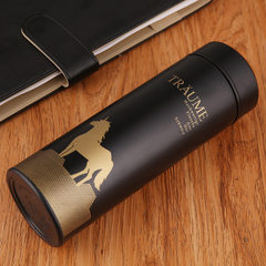 The customized LOGO of the double stainless steel  black 350 ml