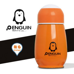 Penguin cartoon stainless steel thermos cup portab orange 300 ml