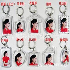厂家定制  亚克力相框钥匙扣 塑料开盖钥匙扣 空白钥匙扣