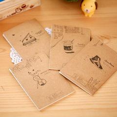 笔记本 记事本 牛皮纸小本子 复古便签本 创意礼品 约20张