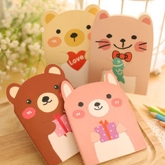 Korea creative stationery cute little bear noteboo 20 (40 pages)