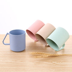 Xinyou straw creative pure color mouthwash cup can khaki