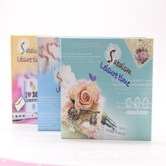 Wholesale schoolbook loose-leaf lovely message boo Cute girls are mixed in color